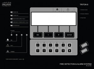 Triton 8 Addressable Fire Alarm Panel
